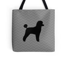 Black Toy Poodle Silhouette Tote Bag