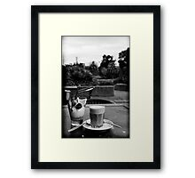Botanical latte Framed Print