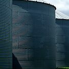 Grain Silos by Joe Mortelliti
