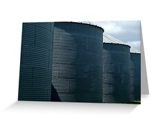 Grain Silos Greeting Card