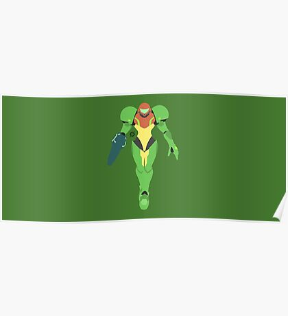Samus (Green Suit) - Super Smash Bros. Poster