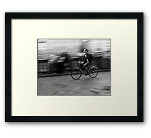 Moving Through Florence Framed Print