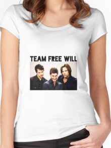 Supernatural - Team Free Will Women's Fitted Scoop T-Shirt