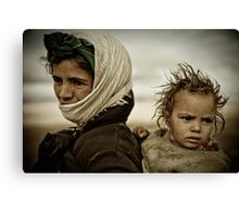 Nomads of High Atlas Mountains Canvas Print