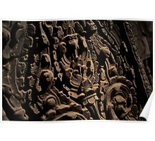Ancient Temple Detail - Cambodia Poster