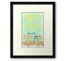 Anatomy of a Misfit Cover Framed Print