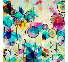 Colorful Abstract Geometric Art Photographic Print