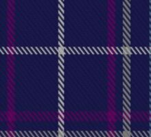 00487 Heirloom Blue Alba Tartan  Sticker