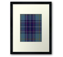 00487 Heirloom Blue Alba Tartan  Framed Print