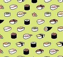 Pixelated Sushi by Alison Huang