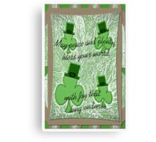 St. Patrick's Day Greeting Canvas Print