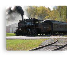 Steam Engine Train Afternoon Canvas Print