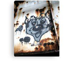 """Cartoon Graffiti"" Canvas Print"