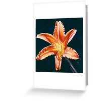 """""""Orange Lily"""" - big lily painting Greeting Card"""