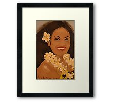 Hawaiian woman smiling  Framed Print