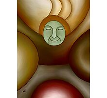 Green face Photographic Print