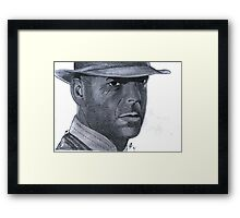 Bruce Willis or Sherlock Home? Framed Print