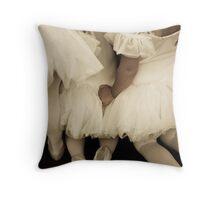 Backs of Baby Ballerinas Throw Pillow