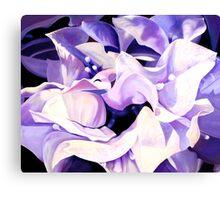 """""""Dancing Bugambilia"""" - purple bougainvillea blossoms Canvas Print"""