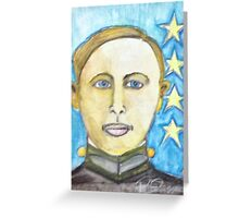 Young George Patton Greeting Card