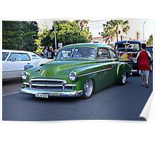 Chev 2 door 50 model Chevy Fleetline  Poster