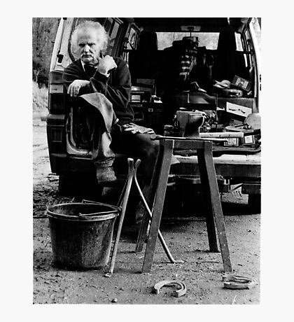 Working Lunch portrait (35mm) Photographic Print