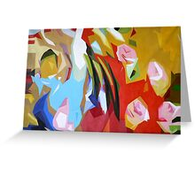 ORIGINAL ABSTRACT OIL PAINTING ART-SOUl Greeting Card