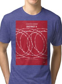 No023 My District 9 minimal movie poster Tri-blend T-Shirt