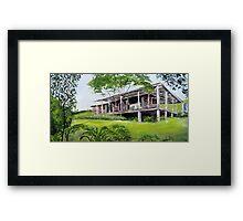 Sunshine Coast Cottage  Framed Print