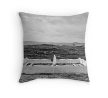 Madonna, Outer Hebrides, Scotland Throw Pillow