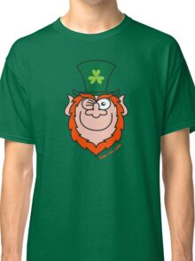 St Paddy's Day Leprechaun Winking and Smiling  Classic T-Shirt