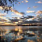 Sunset over the lake by Javimage