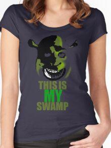 This is my swamp - Shrek is love. Shrek is life. Women's Fitted Scoop T-Shirt
