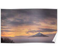 Misty Sunrise over Schiehallion Poster
