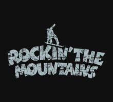 Rockin' the Mountains Snowboard Light Blue Vintage Baby Tee