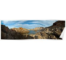 shell beach rock pools Poster
