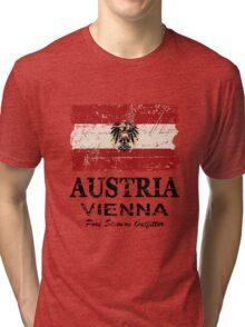 Austria Flag - Vintage Look Tri-blend T-Shirt