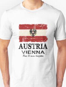 Austria Flag - Vintage Look Unisex T-Shirt