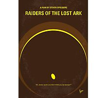 No068 My Raiders of the Lost Ark minimal movie poster Photographic Print