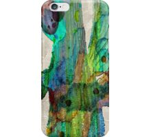 Desert Cactus Rainbow Art Abstract Watercolor by Robert R  iPhone Case/Skin