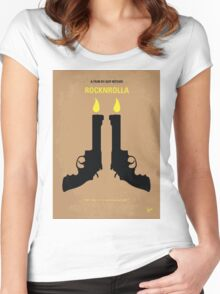 No071 My Rocknrolla minimal movie poster Women's Fitted Scoop T-Shirt
