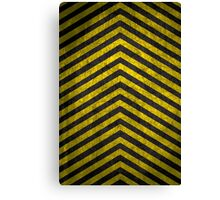 Chevrons - Yellow and Black Canvas Print