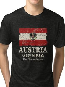Austria Flag - Vintage Look Tri-blend T-Shirt