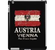 Austria Flag - Vintage Look iPad Case/Skin