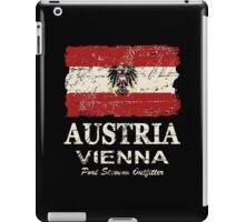 Austria Flag - Vintage Look iPad Case/Skin