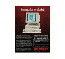 Mr. Robot 90s Ad Art Print