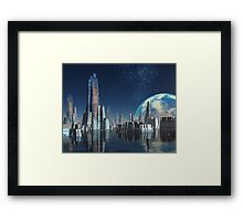 Moon Base Theta Framed Print