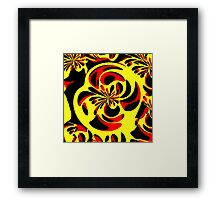 Yellow red and black Framed Print