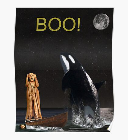 Boo Scream with Orca Poster