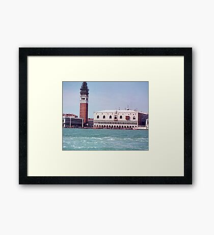 Boat ride with a view Framed Print